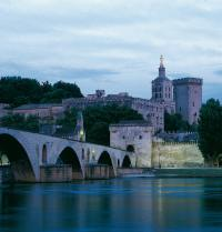 Avignon bridge or of Saint-Beneset over the River Rhone and the Pope's Palace. Avignon, France. Raga/Iberfoto. Photoaisa.