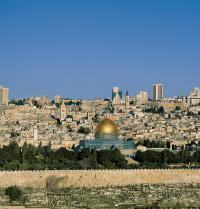 Vista xeral de Xerusalén. Mesquita da Roca. Xerusalén, Israel. Steve Vidler/Iberfoto. Photoaisa.