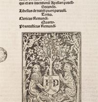 Cover of the Codex De Laudibus Beatissimae Virginis Mariae, by Ramon Llull. Edition published in Paris by Gui Marchand in 1499. Miniature. Barcelona. Biblioteca de Cataluña. M.C.Esteban/Iberfoto. Photoaisa.