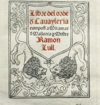 Libre del Orde de Cavaylería ('Zalduneria Ordenaren Liburua') liburuaren azala. XV. mendeko eskuizkribu faksimila. J. Bedmar/Iberfoto. Photoaisa.
