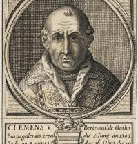 Climent V (1264 - 1314). Papa (1305-1314). Retrat. Primer papa que resideix a Avinyó. Gravat. Mary Evans. Photoaisa.