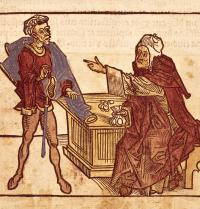 Diru-trukatzaile judutarra. Sanctorum Peregrinationes in Terram Sanctam, Bernhard von Breindenbach-ena (1440-1497). Arte gotikoa. BeBa/Iberfoto. Photoaisa.