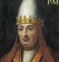 Boniface VIII (1235-1303). Pope of Rome (1294 y 1303). Painting. Florence, Italy. Uffizi Gallery. BeBa/Iberfoto. Photoaisa.