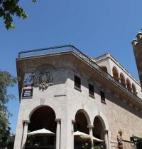 Palau March (1940-45). Cantonada del carrer Costa de la Seu. Palma. IRU, SL.