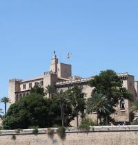 Almudaina Palace, gothic (early 14th century) on a Muslim base. Palma. IRU, SL.
