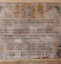 Texto en baldosas de cerámica. Mosteiro de Santa Maria da Real. Palma. IRU, S.L.