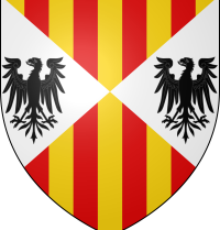 Frederick II of Sicily (1272-1337). King of Sicily (1296-1337). Coat of arms of the Aragonese kings of Sicily. Wikipedia. Ipankonin.