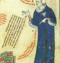 Thomas le Myésier (¿-1336). Canon, doctor in La Sorbonne and Ramon Llull's collaborator. Breviculum, XI. Thomas le Myésier, 1325. http://lullianarts.net